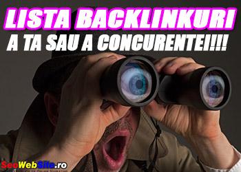 Lista Backlink-uri