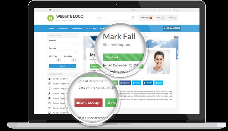 Creare site web licitatii