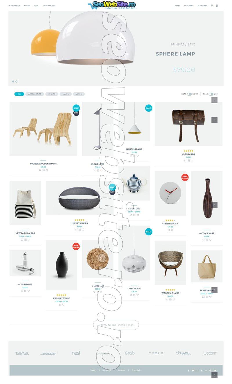 Creare magazin online accesorii casa web design for Creare una casa online