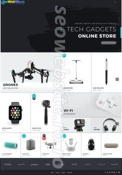 creare magazin online gadget electronice